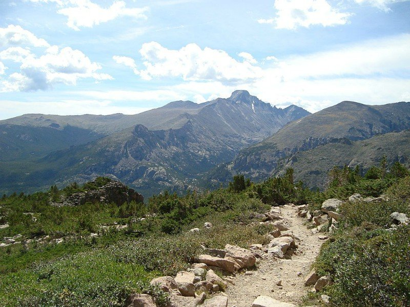 Longs Peak from Flattop Mountains Trail_Estes Park vacation