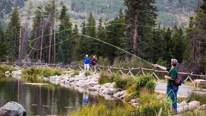 Fishing at Sprague Lake_Estes Park Vacation